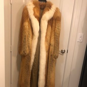 Jackets & Blazers - Full Length Fox Fur '60's-'70's The Real Deal!